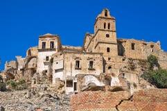basilicata craco panoramiczny widok Basilicata Włochy Zdjęcie Stock