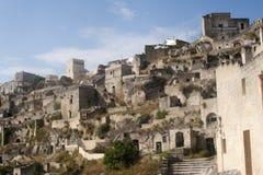 basilicata意大利matera老sassi城镇 免版税库存照片