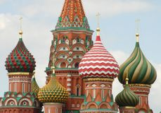 Basilici cattedrale, Mosca del san Fotografia Stock Libera da Diritti