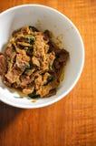 Basilico piccante tailandese della carne di maiale di Krapow Fotografie Stock
