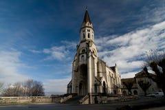 Basiliek in Annecy, sepia wijnoogst Royalty-vrije Stock Afbeelding