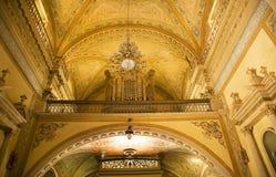 Basiliek Guanajuato Mexico van de Boog van het orgaan de Gele Stock Foto's