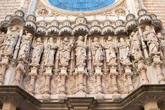 Basiliek in Montserrat Monastery Royalty-vrije Stock Foto's