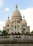 Basiliek sacre-Coeur op de heuvel Montmartre Stock Foto's