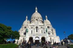 Basiliek Sacre Coeur in Parijs Royalty-vrije Stock Fotografie