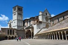 Basiliek San Francesco, Assisi, Umbrië/Italië Royalty-vrije Stock Fotografie