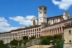 Basiliek San Francesco, Assisi, Umbrië/Italië Stock Afbeelding