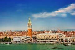 Basiliek San Giorgio Maggiore, Venetië, Italië stock foto