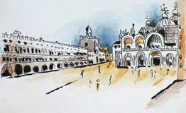 Basiliek San Marco royalty-vrije illustratie
