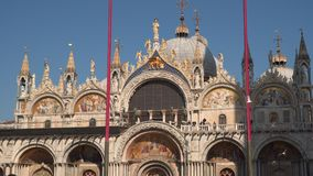 Basiliek San Marco Facade Decoration stock footage