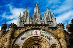 Basiliek Templo Expiatorio del Sagrado Corazà ³ n DE Jesús Royalty-vrije Stock Foto