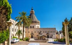 Basiliek van de Aankondiging, een Rooms-katholieke kerk in Nazareth stock fotografie