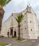Basiliek van de Aankondiging, Kerk van de Aankondiging, Nazareth Stock Afbeeldingen