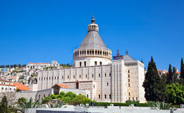 Basiliek van de Aankondiging, Nazareth, Israël Stock Afbeelding