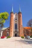 Basiliek van de Heilige Drievuldigheid in Gdansk Oliwa Stock Foto