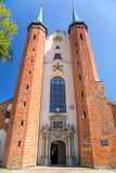 Basiliek van de Heilige Drievuldigheid in Gdansk Oliwa Stock Fotografie