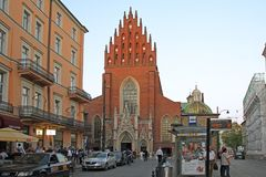 Basiliek van de Heilige Drievuldigheid, Krakau, Polen Royalty-vrije Stock Foto