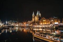 Basiliek van de Heilige Nicolaas a Amsterdam immagine stock