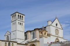 Basiliek van Heilige Francis in Assisi, Italië Stock Foto's
