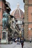Basiliek van Heilige Mary van de Bloem in Florence Stock Foto's
