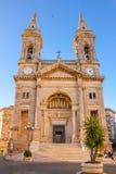 Basiliek van heilige Medici Cosma en Damiano, Alberobello, Italië Alberobello Apulia Italië stock afbeelding
