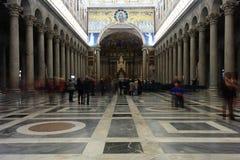 Basiliek van Heilige Paul Outside de Muren - Rome - Italië Stock Afbeeldingen