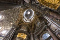 Basiliek van heilige Peter, de stad van Vatikaan, Vatikaan Royalty-vrije Stock Fotografie