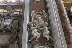 Basiliek van heilige Peter, de stad van Vatikaan, Vatikaan Royalty-vrije Stock Afbeeldingen