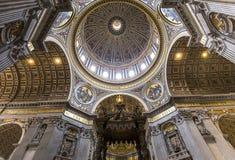 Basiliek van heilige Peter, de stad van Vatikaan, Vatikaan Stock Fotografie