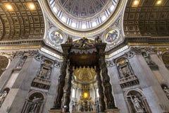 Basiliek van heilige Peter, de stad van Vatikaan, Vatikaan Stock Afbeeldingen