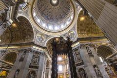 Basiliek van heilige Peter, de stad van Vatikaan, Vatikaan Stock Foto