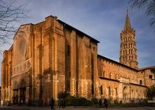 Basiliek van Heilige Sernin, Toulouse, Frankrijk Royalty-vrije Stock Afbeelding
