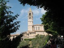 Basiliek van het Heiligdom van La Verna Royalty-vrije Stock Foto's