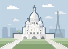Basiliek van het Heilige Hart van Parijs Stock Foto's