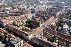 Basiliek van het Heilige Hart in Zagreb stock foto's