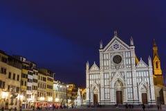 Basiliek van het Heilige Kruis in Florence in Italië royalty-vrije stock afbeeldingen