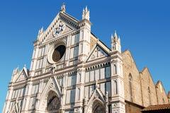 Basiliek van Kerstman Croce, Florence stock afbeeldingen