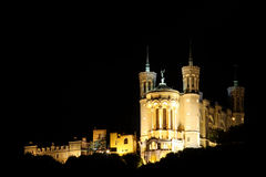 Basiliek van Notre-Dame Lyon Stock Foto