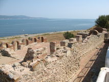 Basiliek van Onze Dame Eleusa, Nessebar, Bulgarije Stock Foto's