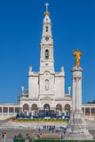 Basiliek van Onze Dame van de Rozentuin en Heilig Hart van Jesus Monument Stock Foto's