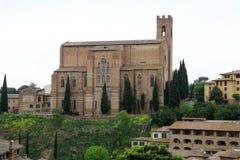 Basiliek van San Domenico, Siena, Toscanië, Italië Royalty-vrije Stock Fotografie
