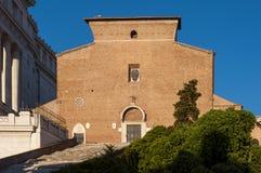 Basiliek van Santa Maria in Ara Coeli stock afbeeldingen
