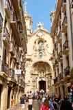 Basiliek van Santa Maria del Coro in San Sebastian Stock Foto's