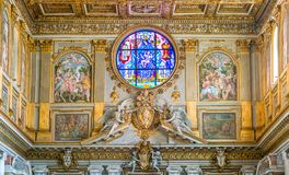 Basiliek van Santa Maria Maggiore in Rome, Italië stock afbeeldingen