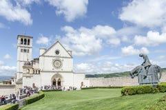 Basiliek van St Francis van Assisi in Assisi, Umbrië, Italië Royalty-vrije Stock Foto's