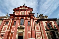 Basiliek van St George, Praag Stock Fotografie