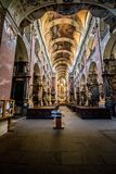 Basiliek van St James in oude Stad van Praag, Tsjechische Republiek stock foto