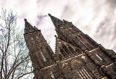 Basiliek van St Peter en St Paul Church, Praag, Tsjechische Republiek Stock Foto's