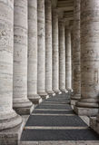 Basiliek van St Peter - Vatikaan - Columnate Royalty-vrije Stock Foto