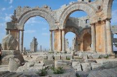 Basiliek van St Simeon dichtbij Allepo, Syrië Royalty-vrije Stock Afbeeldingen